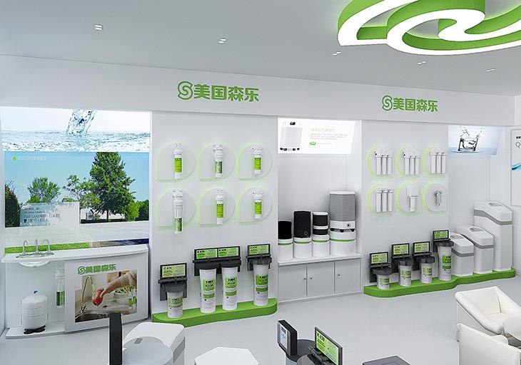 設計策略:森樂凈水器原有店面整體印象低端,混亂缺少品質感,沒有行業